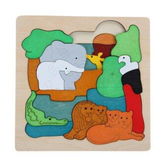 Harga Multi-dimensional Jigsaw Wooden Puzzle Children Toys Lion