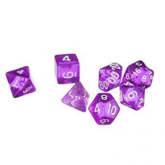Harga BolehDeals 7Pcs Purple D4 D6 D8 D10 D12 D20 Dice Set For Dungeons And Dragons Game - intl