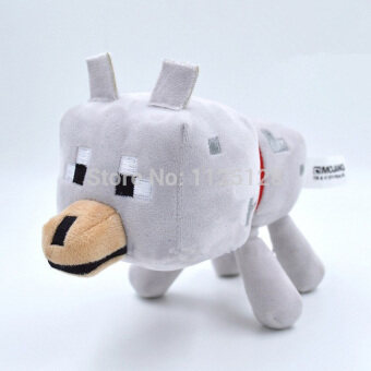 Harga GDS Minecraft Plush Toy Brinquedos Game Toys Cheapest Sale High Qualityplush Toys Cartoon Game Toys Wolf 22Cm - intl