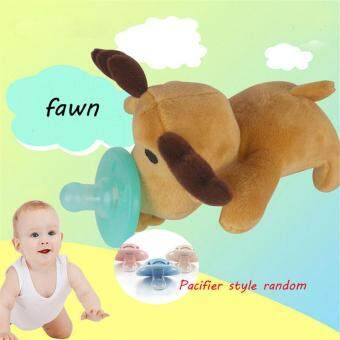 Harga Ai Home Baby Silicone Pacifiers Cartoon Plush Animal Non-Toxic Tool Safe Nipples (Fawn) - intl