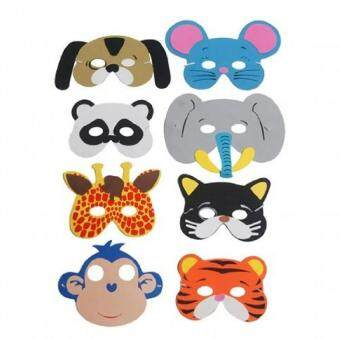 Harga 8 Assorted Animal Foam Masks