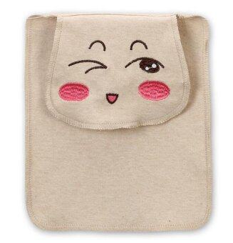 Harga Expression series Organic Cotton Baby Back sweat-absorbent Mat Towel Size S ( 24cmx19cm) Wink Expression - INTL