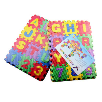 Harga EVA foam puzzle mats digital learning English letters educational toys 36 pieces(26 pieces letters+10 pieces digitals) - Intl