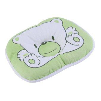 Harga OH Bear Pattern Pillow Newborn Infant Baby Support Cushion Pad Prevent Flat Head Green