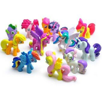 Harga Yika 12 Pcs Set My Little Pony Cake Toppers Cupcake Toys Figurines (Multicolor)