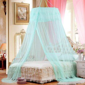 Harga YiSoo Summer Hung Dome Mosquito Net Princess Students Insect Bed Canopy Netting Polyester Round Lace Bedding Mosquito Nets - intl