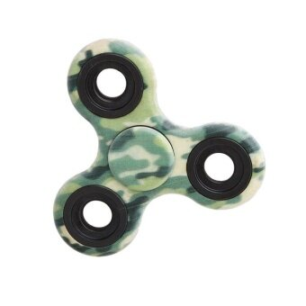 Harga Ai Home Tri-spinner Fidget Hand Spinner Decompression Mini Toys Single Finger Spinner (Camouflage Green) - intl