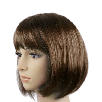 Harga Women's Colorful Candy Color Short Straight Wig Bobstylehair Halloween Masquerade Cosplay Stage Show Costume - intl