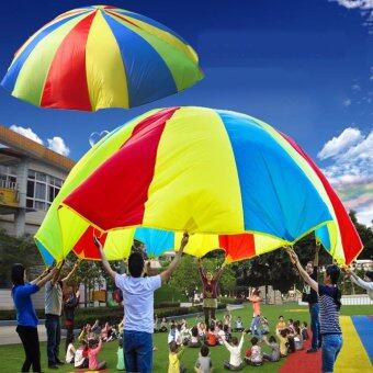 Harga Details about Kids Childrens Play Rainbow Parachute Outdoor Game Family Exercise Sport Toy UK - intl