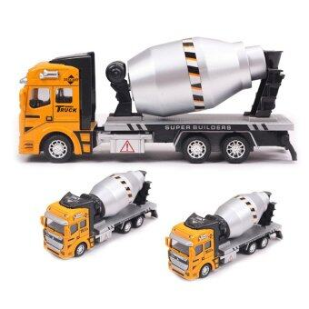 Harga Concrete Mixing Truck Model Car Alloy Metal & Plastic Toy Cars Boys Toys Gift(yellow)