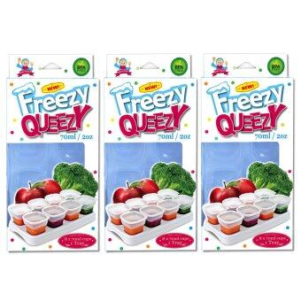 Harga Alpha Baby FREEZY QUEEZY 2OZ BABY CUBES 3 PACK ( WHITE )