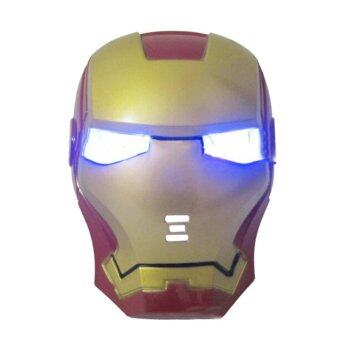 Harga LED Glowing Superhero Mask For Kid & Adult #1 Gold - intl