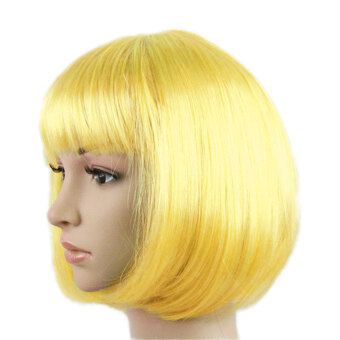 Harga Women's Colorful Candy Color Short Straight Wig Bob Stylehair Halloween Masquerade Cosplay Stage Show Costume - intl
