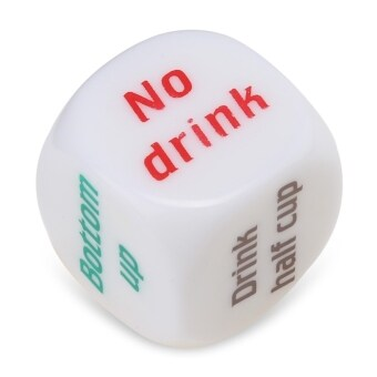 Harga 1pcs Drink Decider Games Bar Party Pub Dice Toy(White)