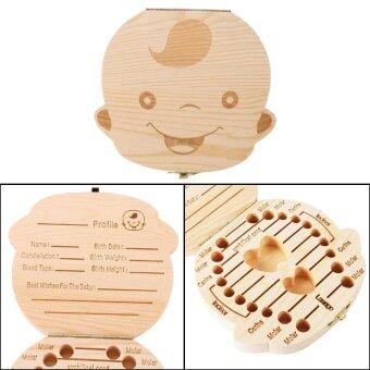 Harga leegoal Baby Wooden Teeth Save Box Milk Teeth Wood Case Storage Kids Keepsake Organizer (Boy) - intl