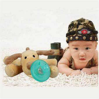Harga Ai Home Baby Silicone Pacifiers Cartoon Plush Animal Non-Toxic Tool Safe Nipples (Bear) - intl