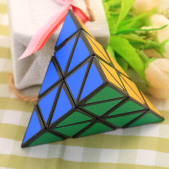 Harga 3X3X3 Pyramid triangle Shaped Third order Magic Cube Puzzle Twist hot Toy