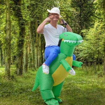 Harga Inflatable Adult T-REX Dinosaur Party Costume Dino Rider Outfits Halloween - intl