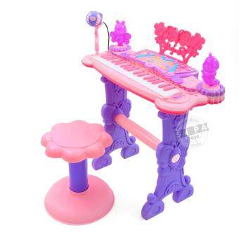 Harga KJTOYS Electronic Keyboard Beauty Piano สีชมพู