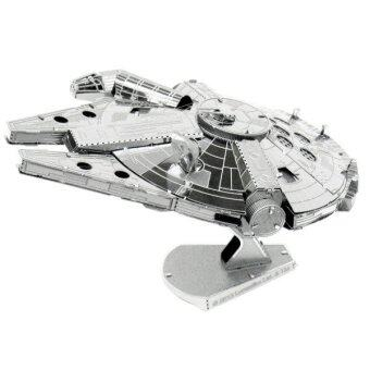 LALANG 3D Metal Millennium Falcon Model Adults Kids Toys Silver