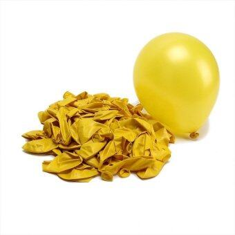 Multi Color Pearl Helium Latex Ballons Durable 100pcs Party WeddingBirthday Yellow