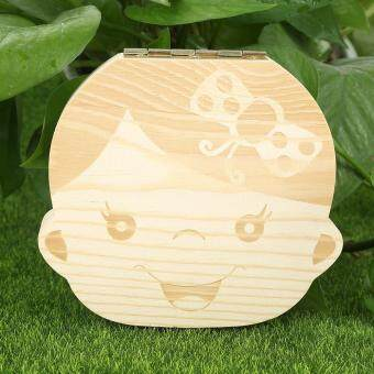 Personalised Wood Made Baby Child Kids Tooth Box Organizer KidsMilk Teeth Save Box Gril Image - intl