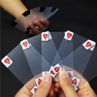 Transparent PVC Poker Playing Cards - intl