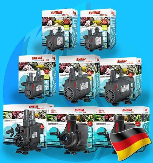 ปั๊มน้ำตู้ปลา ปั๊มน้ำพุ ปั๊มน้ำทนทายาท Eheim Compact CompactOn Series รุ่นใหม่ 300 600 1000 2100 3000 5000 9000 12000 water pump