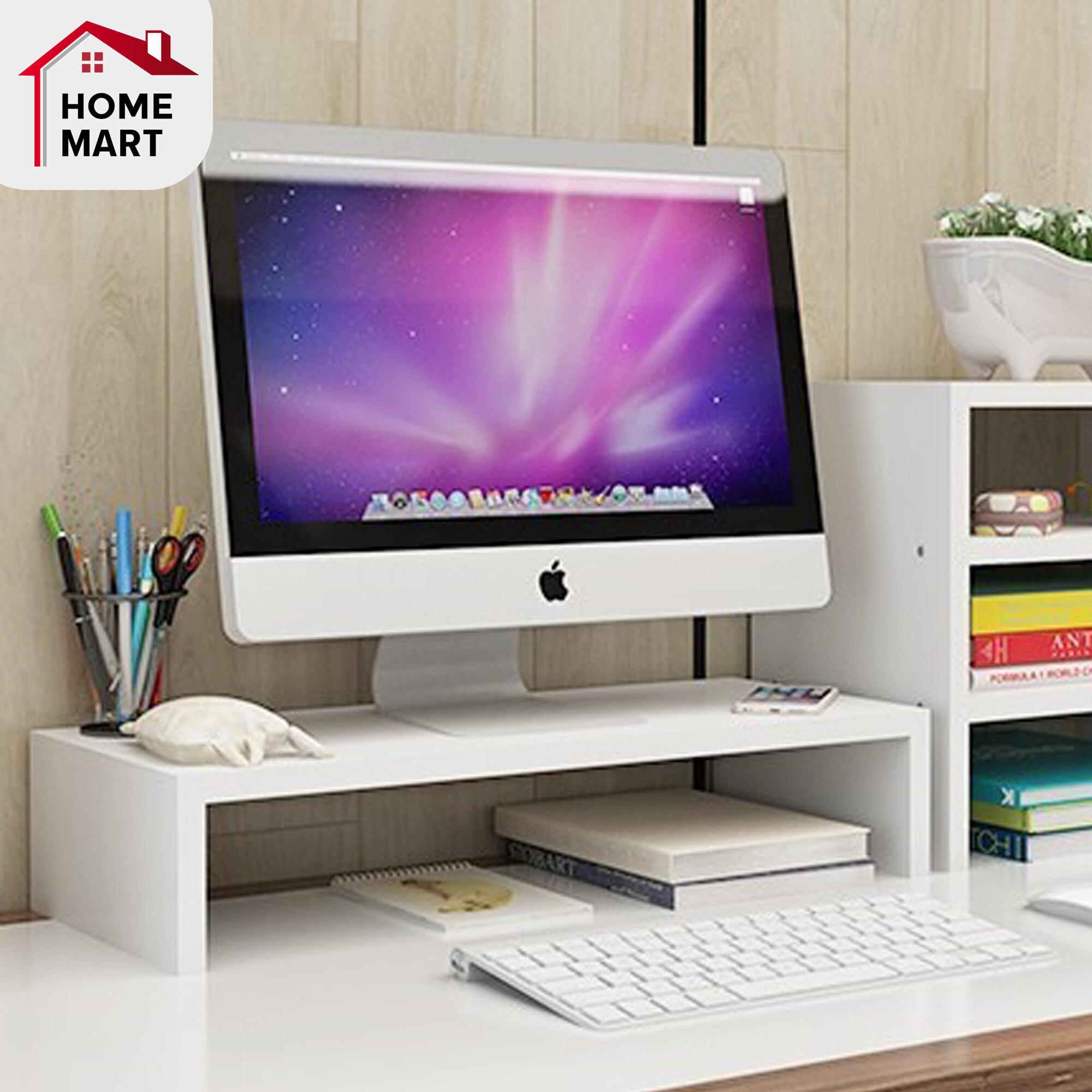 ชั้นวาง Laptop โต๊ะวางคอม โต๊ะวางโน๊ตบุ๊ค ที่วางคอม สำหรับจัดระดับ จัดเก็บของ ชั้นวางจอคอม Laptop And Monitor Table For Posture And Ergonomics For Working.