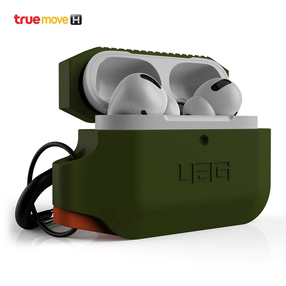 Uag Silicone Case For Apple Airpods Pro - Olive Drab.
