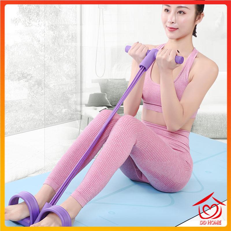 Dd Home ปลีก/ส่ง B127 เชือกยืดออกกําลังกาย เชือกยืด เชือกยืดหยุ่น เชือกดึงยืดหยุ่น ออกกําลังกาย โยคะดึงเชือก.