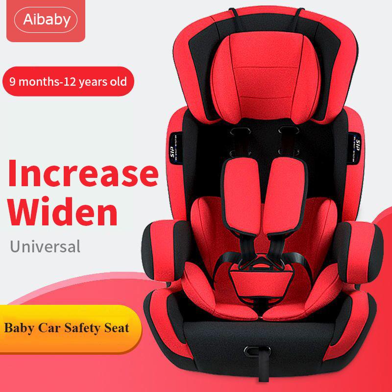 Aibaby คาร์ซีทรถยนต์ คาร์ซีท คาร์ซีทเด็กโต Car Seat เบาะนั่งนิรภัยสำหรับเด็ก คาร์ซีทเด็กเล็ก ใช้ได้กับรถยนต์ทุกรุ่น 9 เดือน - 12 ปี ขนาด 80x38x48cm