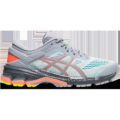 Asics : Gel-Kayano 26 Lite-Show (women) รองเท้าวิ่งผู้หญิง รองเท้าที่กระจายน้ำหนักได้ดี รองเท้าตัวดัง มีเจลลดการกระแทก เรืองแสงได้ ของแท้ 100% 2.19.