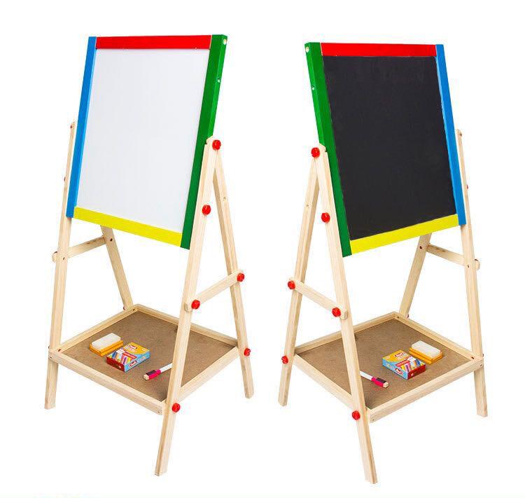 [ กระดาน ] กระดานไม้วาดรูปสำหรับเด็ก กระดานวาดรูปไวท์บอร์ด กระดานวาดรูปดำ กระดานวาดรูปสองหน้า กระดานวาดรูป2ด้าน กระดานวาดรูปขาตั้งไม้.