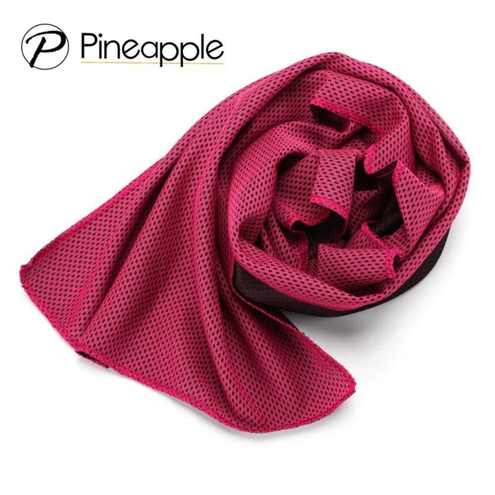 Pineapple-ผ้าเช็ดเหงื่อ ผ้าไมโครไฟเบอร์ผ้าทำความเย็นแบบเร็วแห้งเร็วผ้าเย็นฟิตเนสโยคะปีนเขาการออกกำลังกายผ้าขนหนูกลางแจ้ง Ice Towel Mj102.