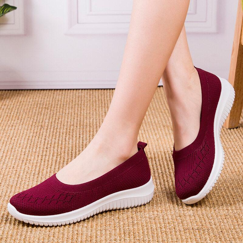 Mum รองเท้าผ้าใบแบบสลิปออน รองเท้าผ้าใบเพื่อสุขภาพ รองเท้าผ้าใบผญ รองเท้าใส่เดิน สไตล์สาวเกาหลี.