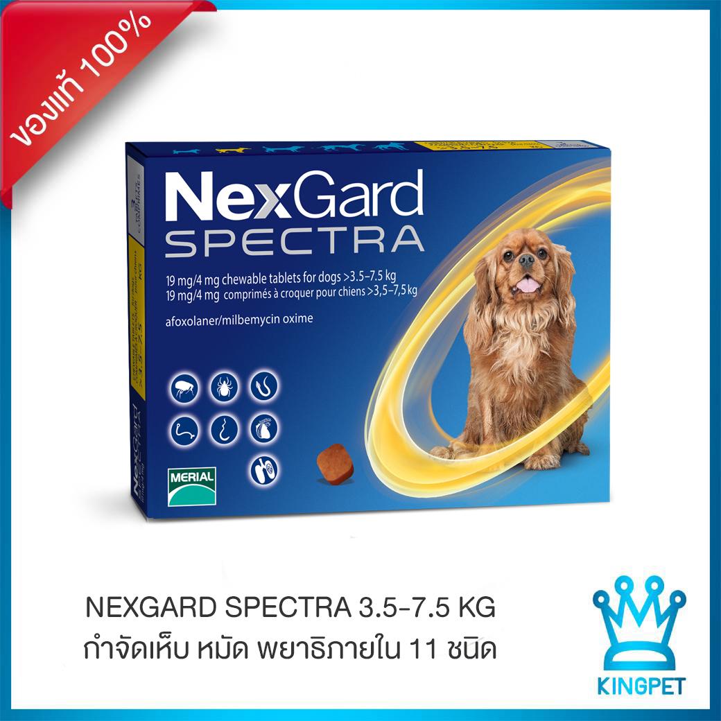 [exp.4/2022] Nexgard Spectra 3.5-7.5 กก.  ยากินกำจัดเห็บหมัดพยาธิ.