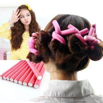 Harga Amusing 10 pieces Hair Curling Flexi rods Air Hair Roller CurlerBendy - intl