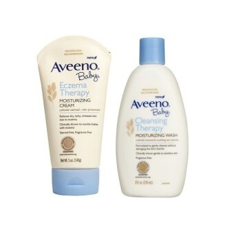 Aveeno Baby Cleansing Therapy Moisturizing Wash + Eczema TherapyMoisturizing Cream Fragrance Free