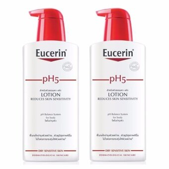 Harga Eucerin Sensitive Skin pH5 Skin-Protection Lotion 400 ml (2 ขวด)
