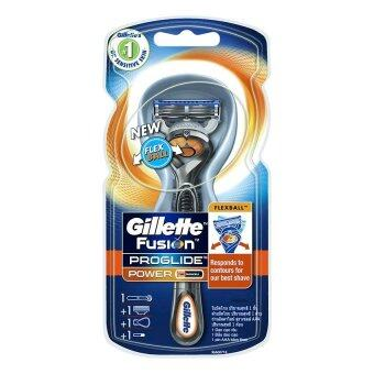 Harga Gillette FUSION PROGLID POWER BASE RAZOR FLEX