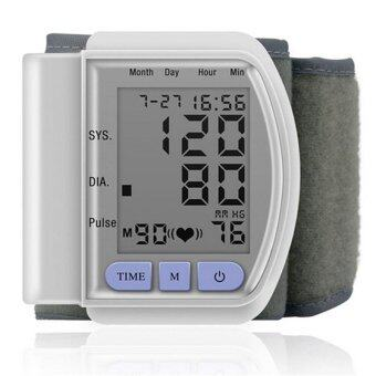 Harga Health Care Portable Digital LCD Wrist Blood Pressure Monitor Pulsemeter + Heart Beat Meter - intl