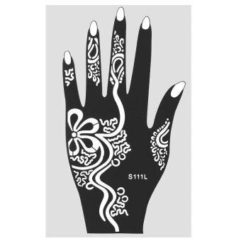 Harga 1Pcs India Henna Temporary Tattoo Stencils For Hand Leg Arm Feet Body Art Decal S111L - intl