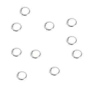 Harga 100PCS 5MM Manicure Rhinestones Alloy Manicure Decorations DIY Accessories(Silver) - intl