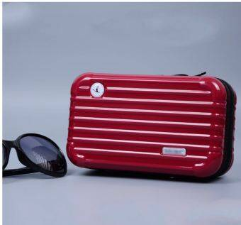 Harga Waterproof cosmetic bag, Super personality.Red