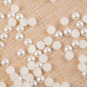 Harga 2000pcs Half Round Nail Art Stickers Flat Back Pearls Beads Sticker for DIY Nails 2mm - intl