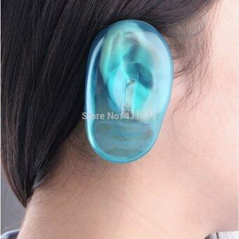 Harga 2PCS Silicone Ear Cover Hair Dye Shield Protect Ear Hair Styling Tools Styling Accessories Blue