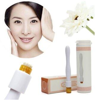 Harga Beauty Lady 40 Micro Needles Wand Derma Roller Pen Stamp Skin Therapy Care Cure - intl