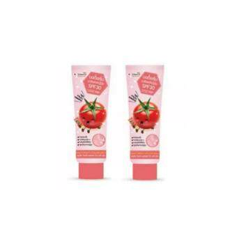 Harga แพคคู่ Smooto Tomato Perfect White Body Serum SPF30 100 ml .