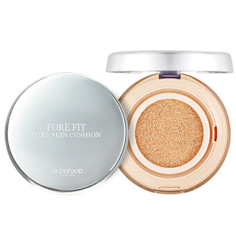 Harga SkinFood Pore Fit Pure Skin Cushion SPF50+ PA+++ 15g # 3 Beige Vanilla ตลับจริง